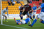 St Johnstone v Inverness Caledonian Thistle...05.10.13      SPFL<br /> Gary MacDonald's shot hits the cross bar<br /> Picture by Graeme Hart.<br /> Copyright Perthshire Picture Agency<br /> Tel: 01738 623350  Mobile: 07990 594431