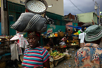Port au Prince, Haiti, April 18, 2010.The area around the old 'Salomon' market is one of the poorest in the city and still mostly in ruins, 3 months after the earthquake.