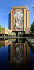 May 7, 2013; Hesburgh Library and reflecting pool...Photo by Matt Cashore/University of Notre Dame