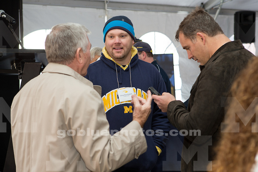 Tailgate to honor former head football coach Gary Moeller and his 1992 Rose Bowl team at Michigan Stadium, Mortenson Plaza, prior to the Iowa-Michigan football game on November 17, 2012.