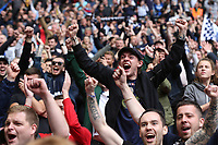 Millwall fans celebrate at the final whistle during Bradford City vs Millwall, Sky Bet EFL League 1 Play-Off Final at Wembley Stadium on 20th May 2017