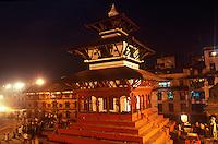Durbar Square at night, Kathmadu, Nepal.