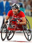 Chantal Petitclerc won the gold   in the 1500 m race t-54<br /> - Photo Benoit Pelosse-CPC