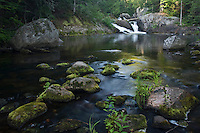 A waterfall on the Salmon Trout River near Big Bay Michigan in Marquette County.