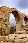 Remains of ancient city. Roman Agora, The Archaeological Site of Kourion, Cyprus.