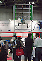 November 9th, 2011 : Tokyo, Japan &ndash; YUME ROBO climbs the wall. during International Robot Exhibition 2011. This show is held to showcase new robots and high technology equipments at the Tokyo International Exhibit Center. International Robot Exhibition 2011 runs from November 9 &ndash; 12. (Photo by Yumeto Yamazaki/AFLO)
