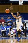 14 December 2015: Duke's Kyra Lambert. The Duke University Blue Devils hosted the University of Massachusetts Minutewomen at Cameron Indoor Stadium in Durham, North Carolina in a 2015-16 NCAA Division I Women's Basketball game. Duke won the game 70-46.