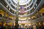 HARTFORD, CT- 03 JANUARY 07- 010307JT08-<br /> Gov. M. Jodi Rell speaks during swearing-in ceremonies in the Legislative Office Building Atrium in Hartford on Wednesday.<br /> Josalee Thrift Republican-American