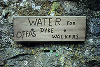 England, Offa's Dyke Footpath.  Houses along the way offer water to hikers.