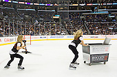 Los Angeles Kings Ice Girls during ice-hockey match between Los Angeles Kings and Colorado Avalanche in NHL league, February 26, 2011 at Staples Center, Los Angeles, USA. (Photo By Matic Klansek Velej / Sportida.com)