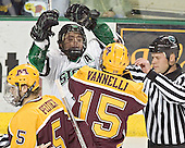 Derek Peltier, Chris Porter, Mike Vannelli - The University of Minnesota Golden Gophers defeated the University of North Dakota Fighting Sioux 4-3 on Saturday, December 10, 2005 completing a weekend sweep of the Fighting Sioux at the Ralph Engelstad Arena in Grand Forks, North Dakota.