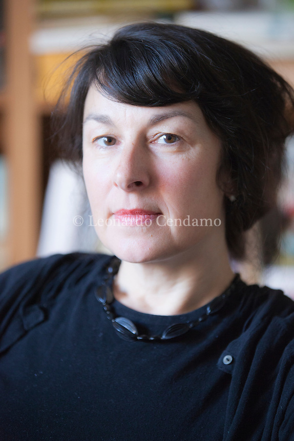 Zsuzsa Bank, ( 24 october 1965 in Frankfurt am Main. In her debut novel, accomplishes a remarkable feat. She writes a novel with virtually no plot at all, yet she makes us care about her characters and their lives. Milan, april 2012. © Leonardo Cendamo