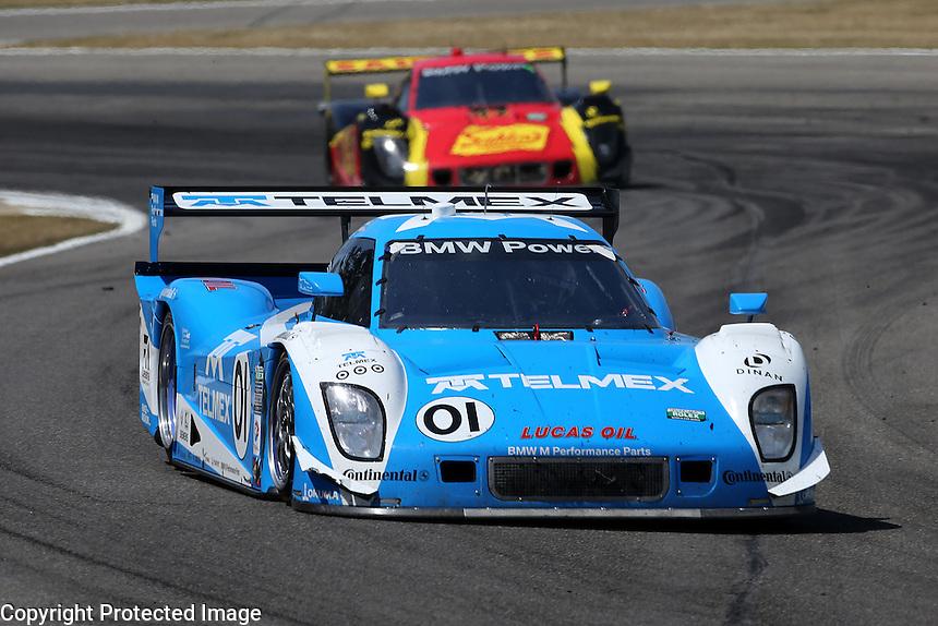 4-6 April, 2013, Birmingham, Alabama USA.The #01 BMW Riley of Scott Pruett and Memo Rojas is shown n action..©2013, R.D. Ethan.LAT Photo USA