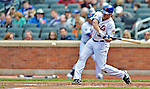 11 April 2012: New York Mets catcher Josh Thole in action against the Washington Nationals at Citi Field in Flushing, New York. The Nationals shut out the Mets 4-0 to take the rubber match of their 3-game series. Mandatory Credit: Ed Wolfstein Photo