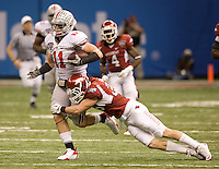 Jake Stoneburner of Ohio State in action against Arkansas during 77th Annual Allstate Sugar Bowl Classic at Louisiana Superdome in New Orleans, Louisiana on January 4th, 2011.  Ohio State defeated Arkansas, 31-26.