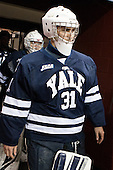Nick Maricic (Yale - 31) - The Boston College Eagles tied the visiting Yale University Bulldogs 3-3 on Friday, January 4, 2013, at Kelley Rink in Conte Forum in Chestnut Hill, Massachusetts.