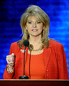 Sharon Day, Co-Chair, Republican National Convention, makes remarks at the 2012 Republican National Convention in Tampa Bay, Florida on Tuesday, August 28, 2012.  .Credit: Ron Sachs / CNP.(RESTRICTION: NO New York or New Jersey Newspapers or newspapers within a 75 mile radius of New York City)