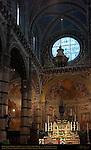 High Altar Peruzzi, Ciborium Vecchietta, Angels Martini and Beccafumi, Apse Frescoes Beccafumi, Cathedral of Siena, Santa Maria Assunta, Siena, Italy