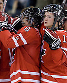 Ryan Ellis (Canada - 8), Cody Goloubef (Canada - 17) - Canada defeated the US 7-4 on Wednesday, December 31, 2008, at Scotiabank Place in Kanata (Ottawa), Ontario during the 2009 World Junior Championship.