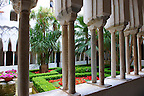 The slender columns of the morish style cloisters of the Amalfi Cathedral, Italy