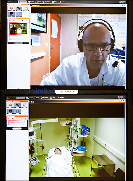Teleconsultation between one hospital with a neurology department with another without one for advice about patient treatment, France