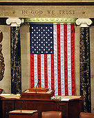 Washington, DC - March 4, 2009 -- Empty rostrum in the well of the U.S. House Chamber in  the U.S. Capitol in Washington, D.C. on Wednesday, March 4, 2009..Credit: Ron Sachs / CNP