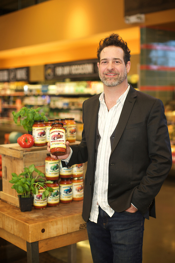 PARAMUS, NJ - March 20, 2017: Brad Finkel, owner of Hoboken Farms, posed with his products at Whole Foods Market.<br /> <br /> Credit: Clay Williams for Edible Jersey.<br /> <br /> &copy; Clay Williams / http://claywilliamsphoto.com