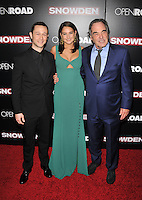 New York,NY-September 13: Joseph Gordon-Levitt, Shailene Woodley, Oliver Stone attends the 'Snowden' New York premiere at AMC Loews Lincoln Square on September 13, 2016 in New York City. @John Palmer / Media Punch