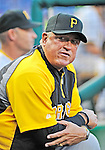 17 May 2012: Pittsburgh Pirates Manager Clint Hurdle in the dugout during game action against the Washington Nationals at Nationals Park in Washington, DC. The Pirates defeated the Nationals 5-3 in the second game of their 2-game series. Mandatory Credit: Ed Wolfstein Photo