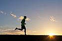 PE00262-00...WASHINGTON - Pierce Prohovost jogging in Edmonds. (MR# P9)