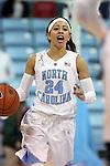 02 January 2014: North Carolina's Jessica Washington. The University of North Carolina Tar Heels played the James Madison University Dukes in an NCAA Division I women's basketball game at Carmichael Arena in Chapel Hill, North Carolina.