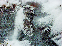 &quot;OLD MAN WINTER PRAYS&quot;<br /> <br /> White hair, white beard and praying hands. It's old man winter sculpted out of ice forming on a creek in Montana