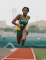 Stasia Kelly-Taylor of Baylor Univ. placed 1st. in the Triple Jump with a mark of 40' 5 1/2 # the Michael Johnson Classic @ Baylor Univ., Waco, Texas. on Saturday, April 21, 2007. Photo by Errol Anderson, The Sporting Image.