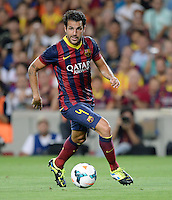 FUSSBALL  INTERNATIONAL   SAISON 2011/2012   02.08.2013 Gamper Cup 2013 FC Barcelona - FC Santos Cesc Fabregas (Barca) am Ball