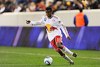 Danleigh Borman (11) of the New York Red Bulls. The New York Red Bulls defeated the New England Revolution 3-0 during a U. S. Open Cup qualifier round match at Red Bull Arena in Harrison, NJ, on May 12, 2010.