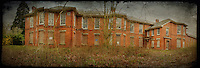 Exterior panorama of West Park abandoned asylum