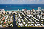 Pompano Beach, Florida - FL A1A, South Ocean Blvd., Terra Mar Drive, Sunset lane - helicopter aerial