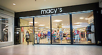 The Macy's in the Queens Center Mall in New York on Friday, April 8, 2016.  (© Richard B. Levine)