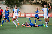 Seattle, WA - Sunday, May 21, 2017: Beverly Yanez during a regular season National Women's Soccer League (NWSL) match between the Seattle Reign FC and the Orlando Pride at Memorial Stadium.
