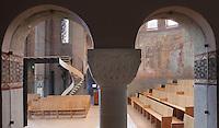 Northern transept seen from the ambulatory, Nanterre Cathedral (Cathédrale Sainte-Geneviève-et-Saint-Maurice de Nanterre), 1924 - 1937, by architects Georges Pradelle and Yves-Marie Froidevaux, Nanterre, Hauts-de-Seine, France. Picture by Manuel Cohen