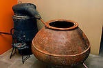 Stock photo of an Ancient distillery equipment in Cyprus Wine Museum Wine production history Horizontal