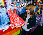 California, San Francisco: Shop, known as Positively Haight Street, selling tie-dyed clothing in the Haight-Ashbury, ..Photo #: 28-casanf79294.Photo © Lee Foster 2008