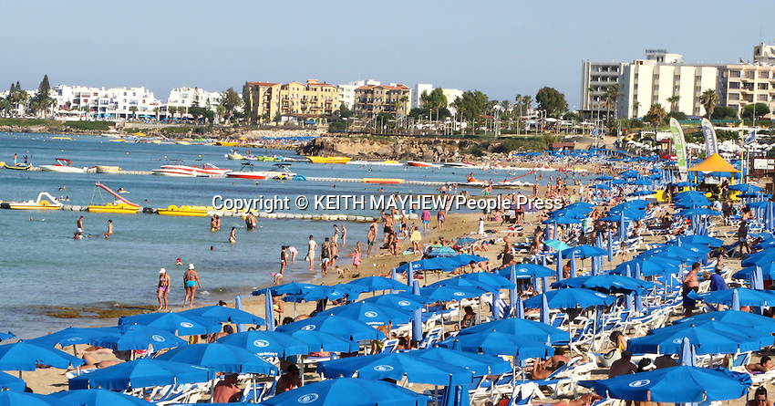 Scenes in and around the beach resort of Protaras, Cyprus on July 2nd-4th 2015<br /> <br /> Photo by Keith Mayhew