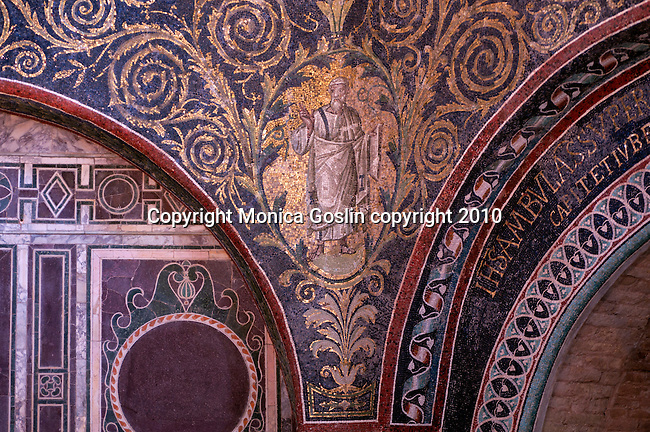 Detail of the mosaics in the Baptistry of Neon in Ravenna, Italy.
