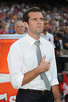 D.C. United head coach Ben Olsen. D.C. United defeated Montreal Impact 3-0 at RFK Stadium, Saturday June 30, 2012.