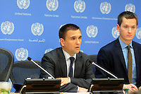 NEW YORK, NY SEPT 22. Ukreine Minester of foreign Affairs Pavlo Klimkin attends a press conference during the 69th United Nations General Assembly on September 22.2014 (photo by VIEWpress)