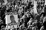War protesters and march to Gas Works Park protesting the US involvement in the Persian Gulf  and the build up to war against Iraq January 15 deadline 1991 Seattle Washington State USA