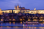 Prague River scenes in December