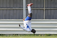 Stratford Juniors celebrate their fifth goal - Inter Moore (blue/black) vs Stratford Juniors (white) - East London Sunday League Jubilee Cup Final at Wadham Lodge - 01/05/11 - MANDATORY CREDIT: Gavin Ellis/TGSPHOTO - Self billing applies where appropriate - Tel: 0845 094 6026
