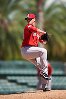 Boston Red Sox pitcher Jhonathan Diaz (90) during an Instructional League game against the Baltimore Orioles on September 22, 2016 at the Ed Smith Stadium in Sarasota, Florida.  (Mike Janes/Four Seam Images)